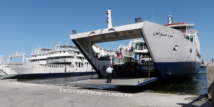 Bac Sfax - Kerkennah : départ du Loud en direction de Kerkennah
