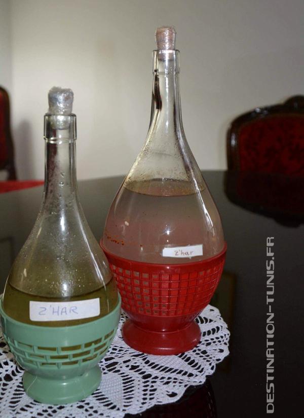 Bouteille de zhar, l'eau de fleur d'oranger