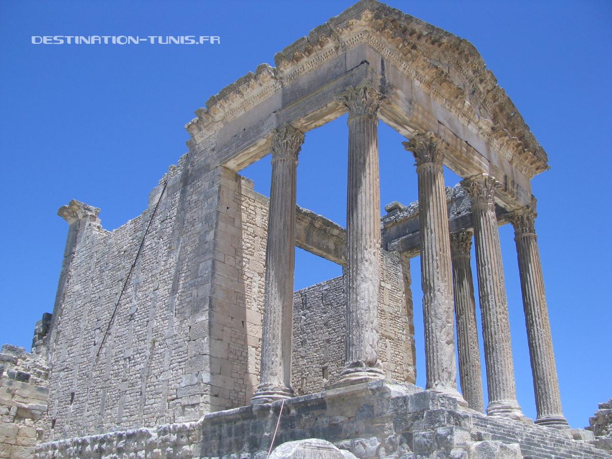 Le Capitole du site archéologique de Dougga