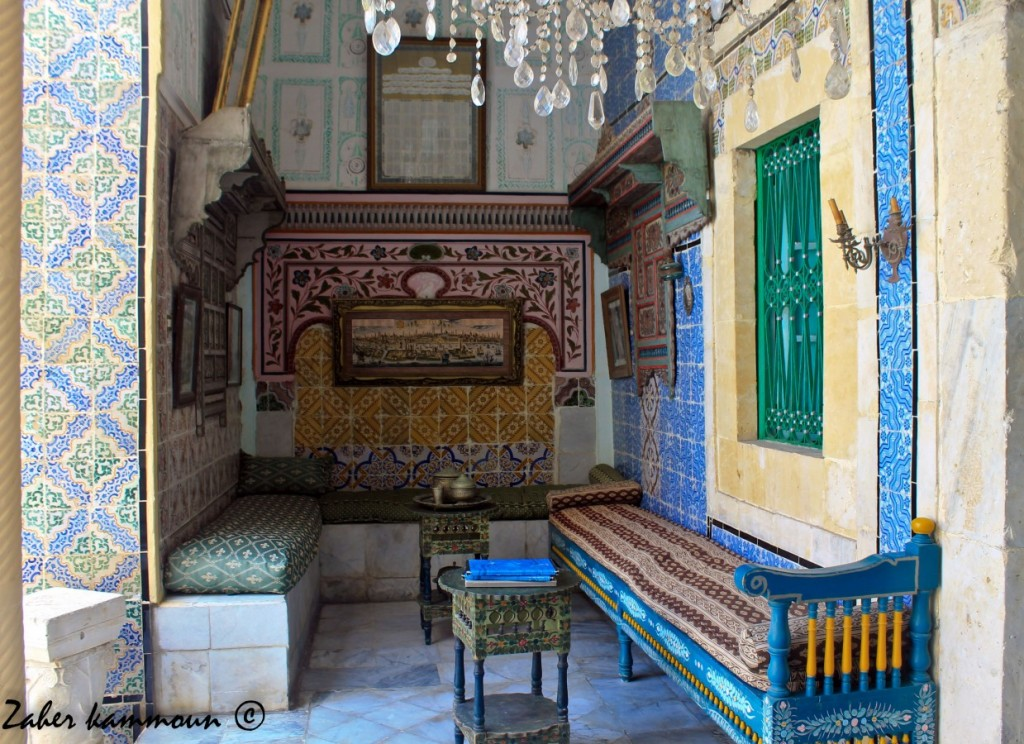 Chambre typique d'un palais de la médina de Sousse (Dar Essid)
