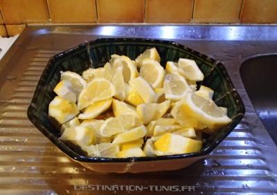 Découpage des citrons