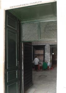 L'entrée du mausolée Sidi Mehrez.
