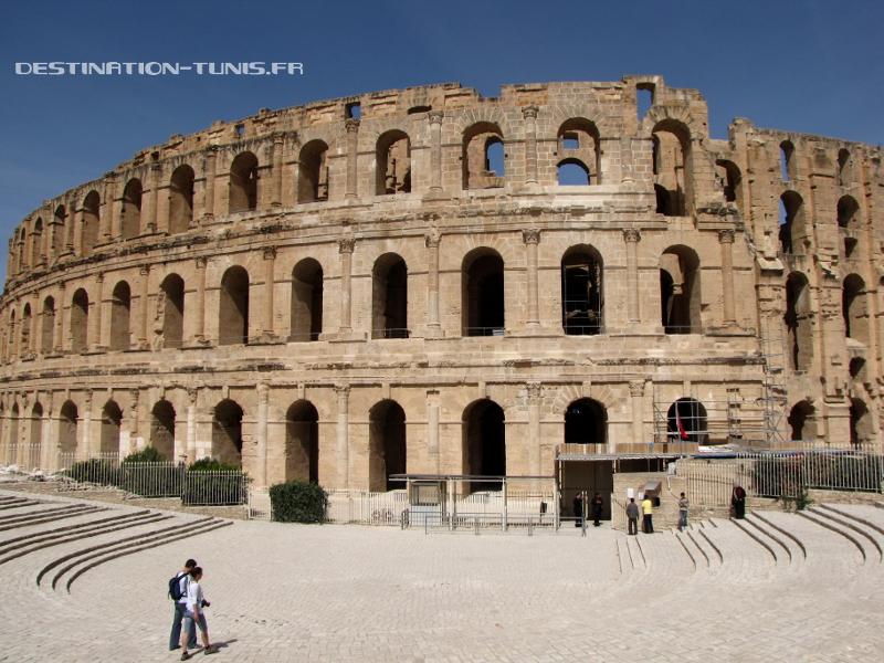 L'entrée du Colisée d'El Jem