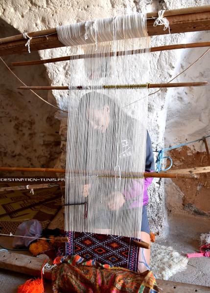 Métier à tisser le kilim à Toujane