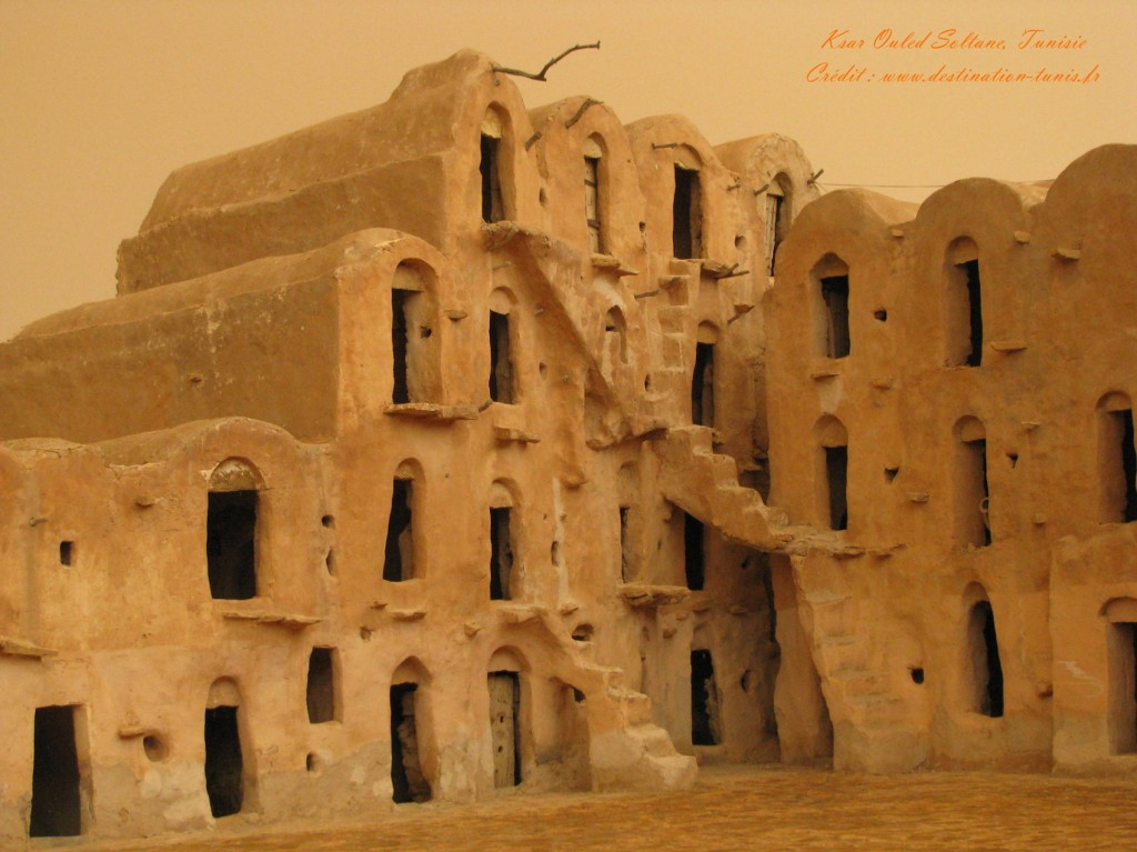 Fond d'écran Désert Ksar Ouled Soltane Tunisie