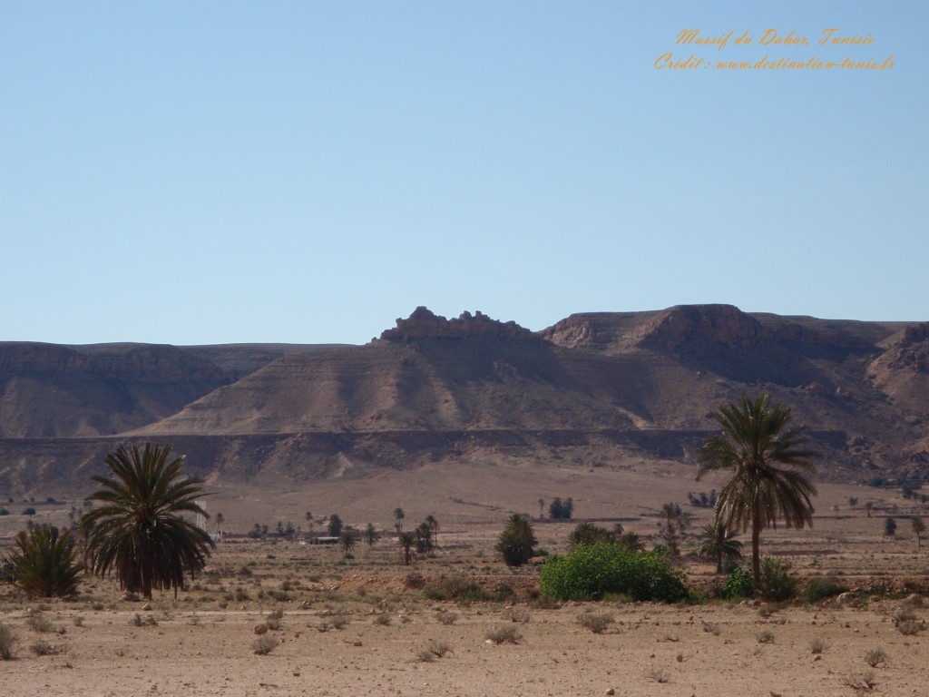 Fond d'écran Désert Massif du Dahar Tunisie