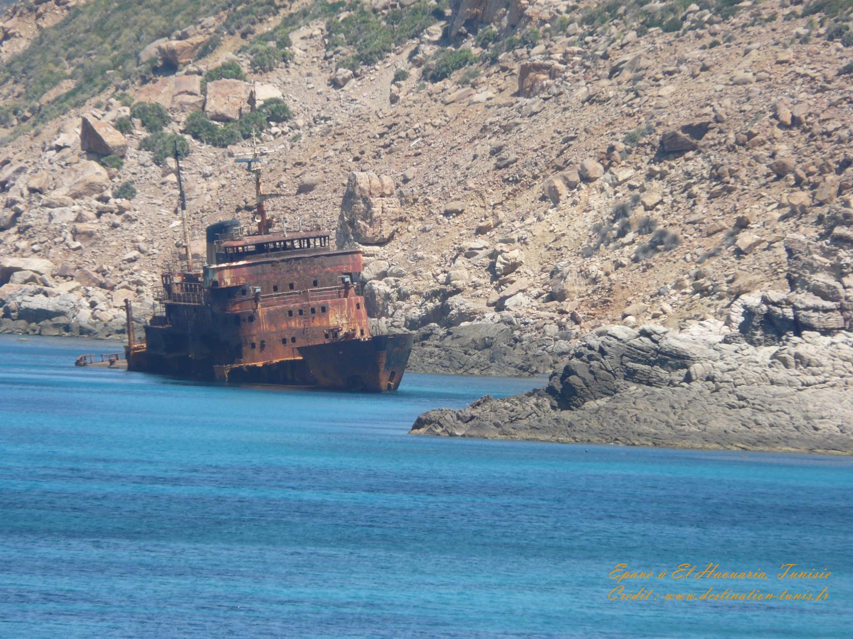 Fonds d'écran Mer et Plages Mer Epave El Haouaria Tunisie