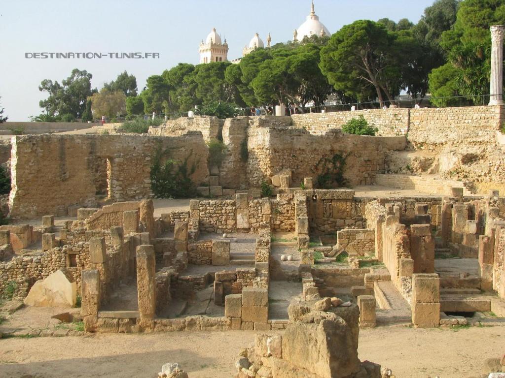 Les ruines d'un quartier de Carthage