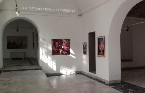 La galerie d'exposition du Palais Kheireddine.