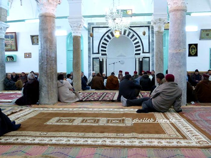 Intérieur de la grande mosquée de Zaghouan