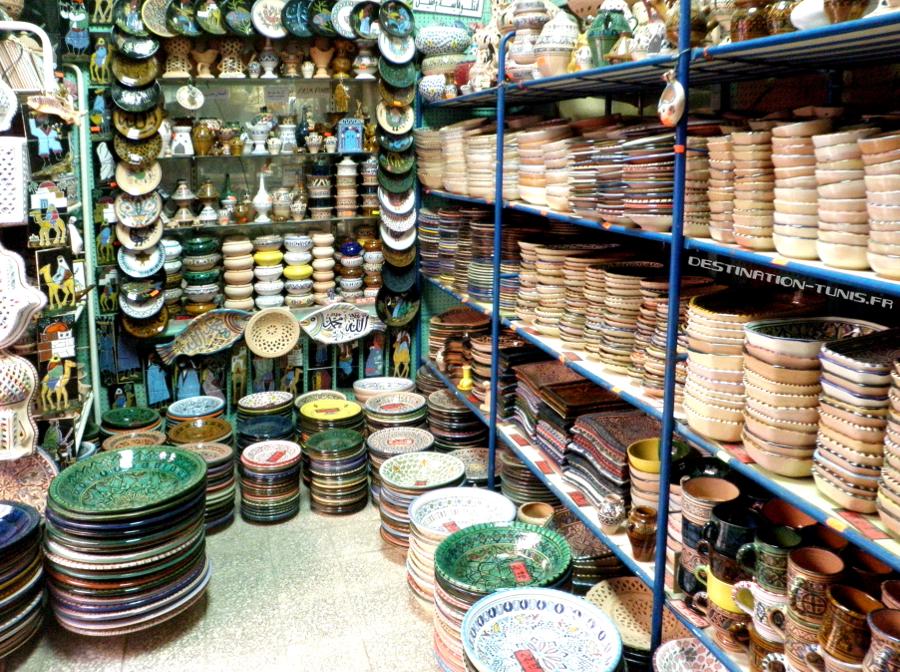La boutique Tunis Céram