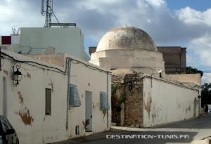 Le dôme du mausolée Sidi Saad à Zaghouan