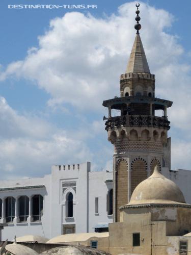 Minaret de la mosquée Hammouda Pacha (influence turc mais avec la spécificité tunisoise)