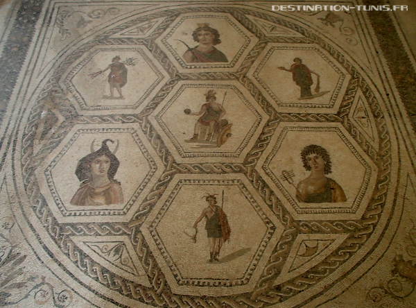 Mosaïque Rome et ses provinces dans la Maison Africa d'El Jem