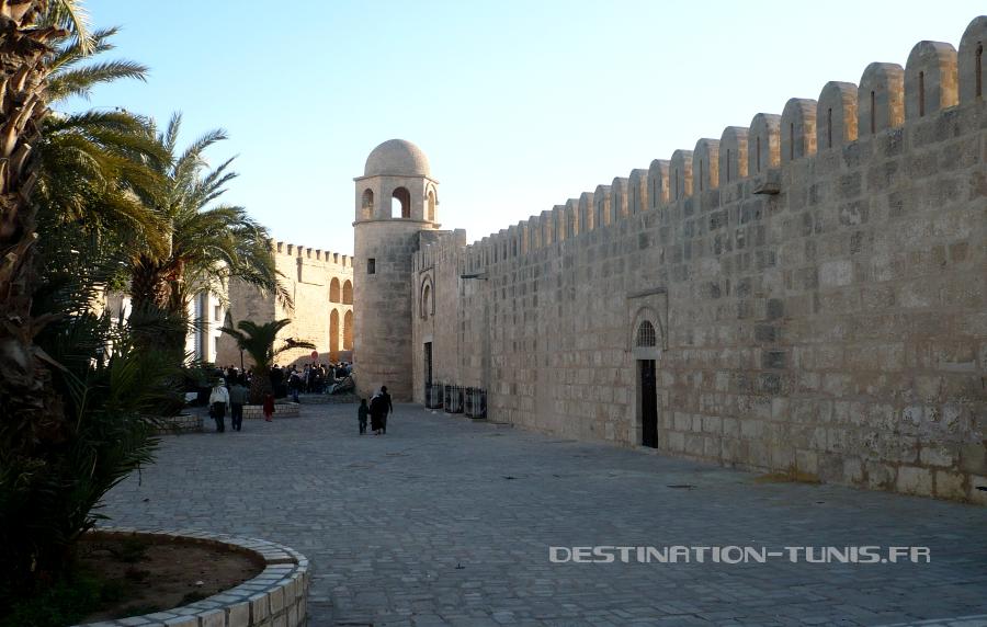La muraille de la Grande Mosquée de Sousse
