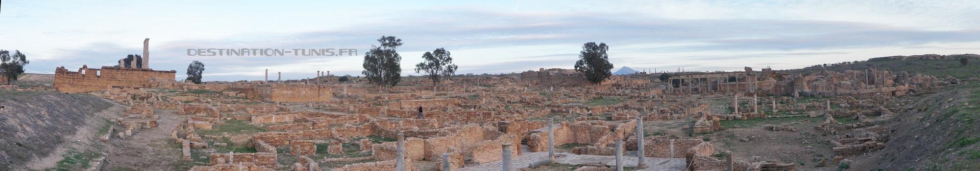 Vue panoramique sur les vestiges de Thuburbo Majus