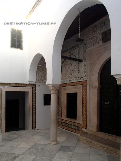 Le patio du mausolée de Sidi Ali Azouz à Zaghouan