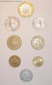 La monnaie : le Dinar tunisien (Dt)