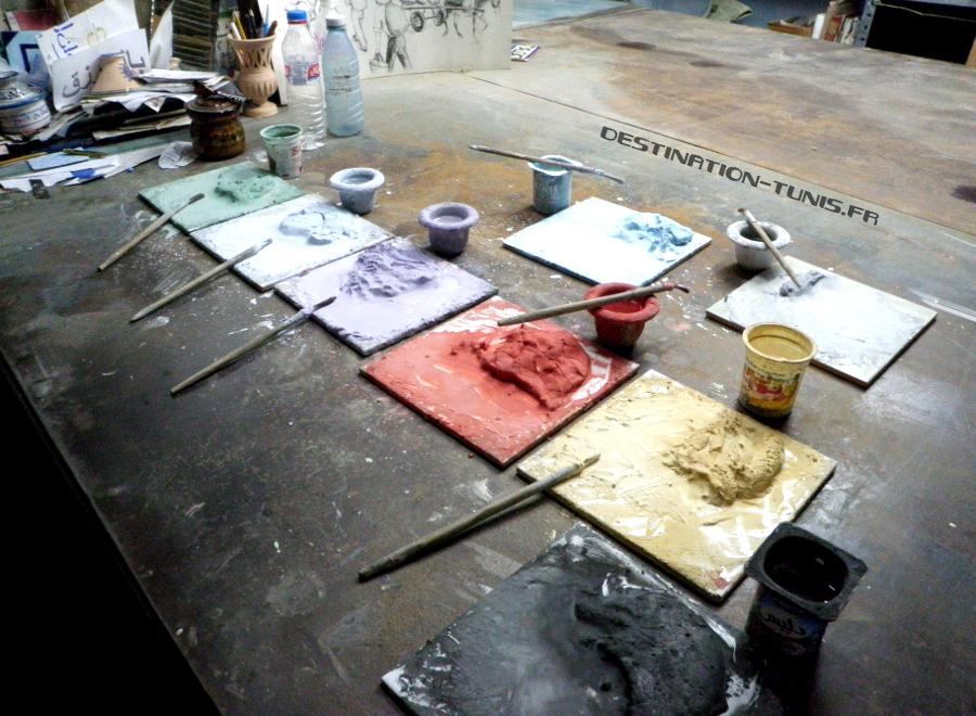Pigments utilisés par l'atelier de céramique