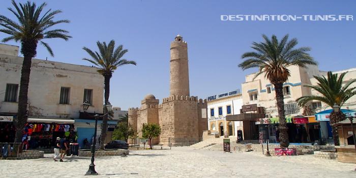 Vue vers le Ribat, depuis la Grande Mosquée de Sousse
