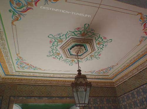 Plafond de la driba du mausolée Sidi Ben Arous.
