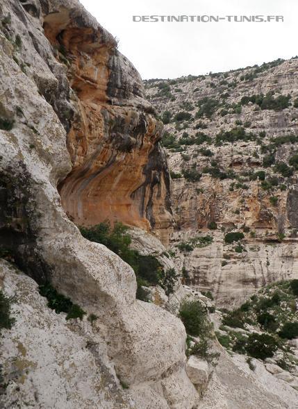 Aïn Khanfous : le porche au milieu d'une falaise, où se situent les peintures rupestres