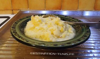 L'écorce, la pulpe et les pépins écrasés, juste avant la seconde phase de mixage