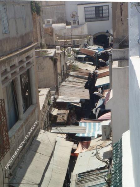 Vue sur les souks depuis la terrasse de El Ali.