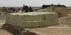 Stock de briques prêt à être expédié