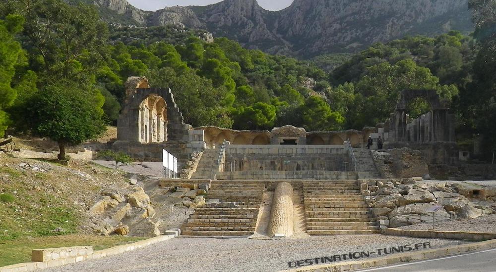 Le Temple des Eaux : aménagement antiques de la source alimentant Carthage