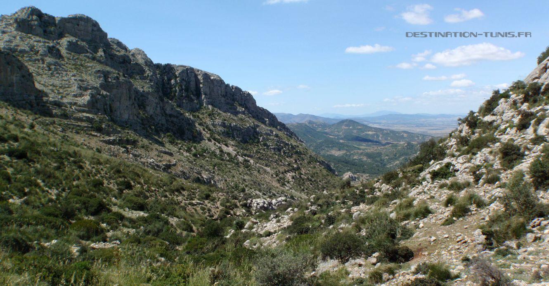 Cheminement dans le vallon au dessus de Sidi Medien
