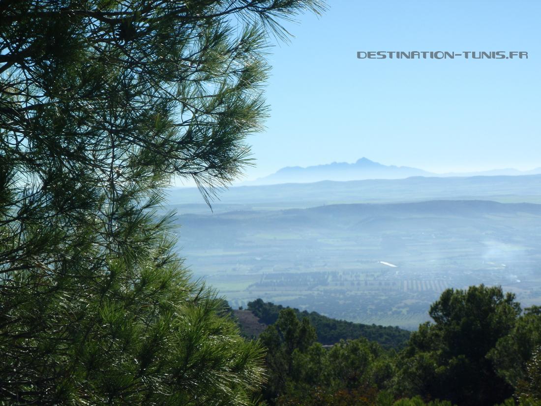 Belle vue sur le Djebel Zaghouan