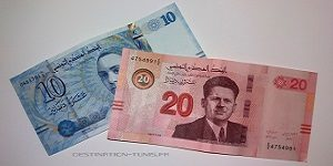 Informations utiles en Tunisie : Billets de 20 et 10 dinars en circulation en 2010