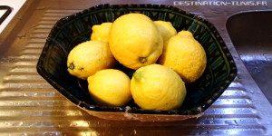 Gastronmie tunisienne : Citrons frais