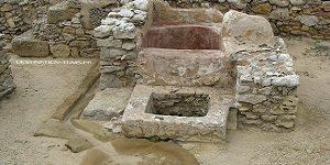 Patrimoine tunisien : salle de bain punique du site de Kerkouane