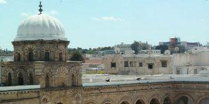 Patrimoine tunisien : mosquée Zitouna dans la médina de Tunis